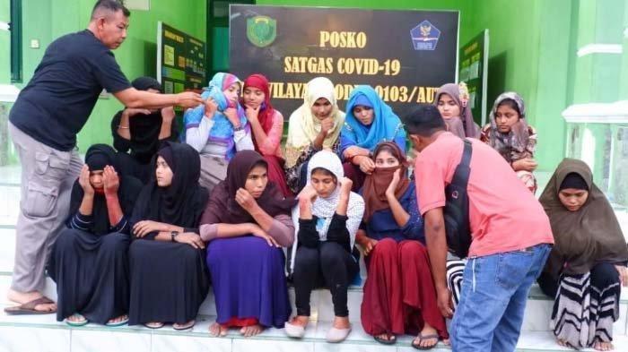 20 Wanita Rohingya Diduga Hendak Diselundupkan, Ditemukan di 3 Lokasi Berbeda Wilayah Lhokseumawe